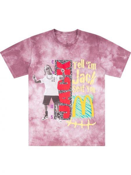 Różowy t-shirt bawełniany krótki rękaw Travis Scott Astroworld