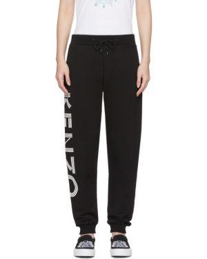 Спортивные брюки белые с карманами Kenzo