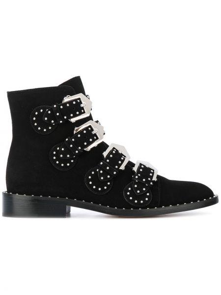 Buty na obcasie na pięcie zamszowe Givenchy