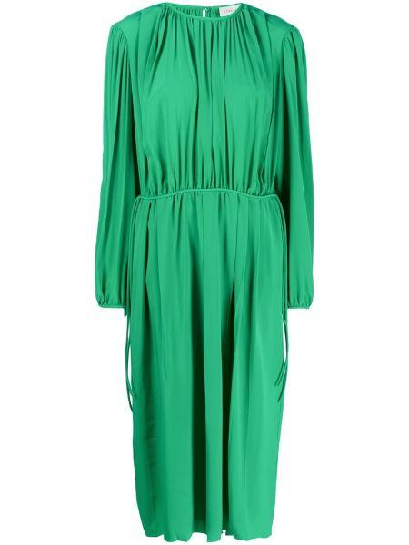 Платье макси мятный с рукавами Lemaire