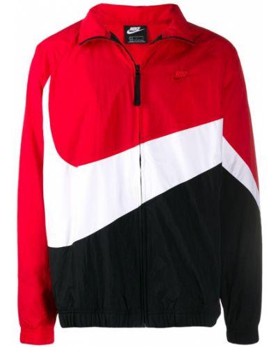 Длинная куртка черная белая Nike