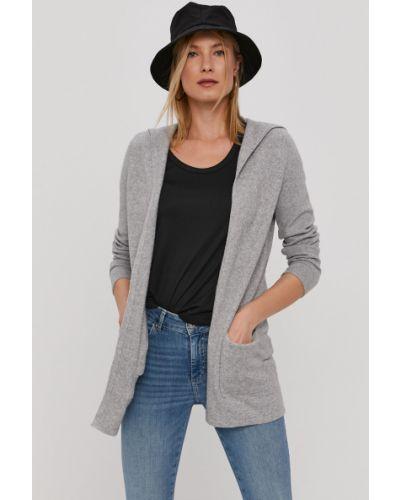 Szary długi sweter dzianinowy z długimi rękawami Vero Moda
