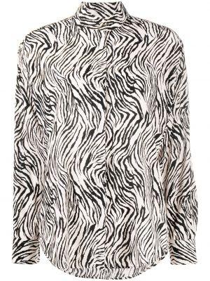 Шелковая белая рубашка с воротником Isabel Marant