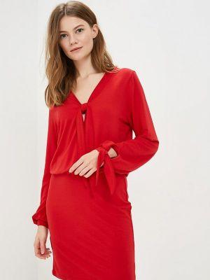 Прямое платье - красное Fimfi