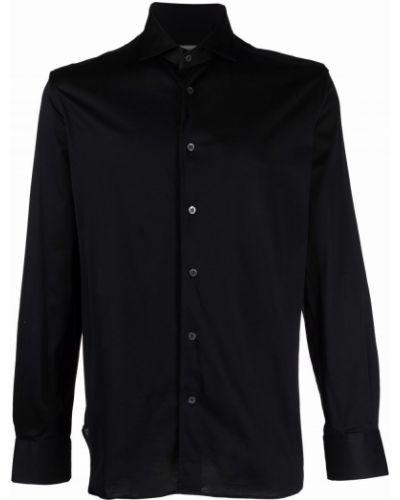 Рубашка с длинным рукавом - черная Corneliani