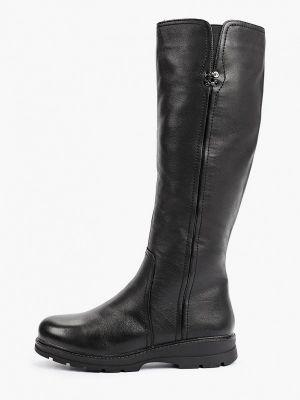 Черные кожаные сапоги Shoiberg