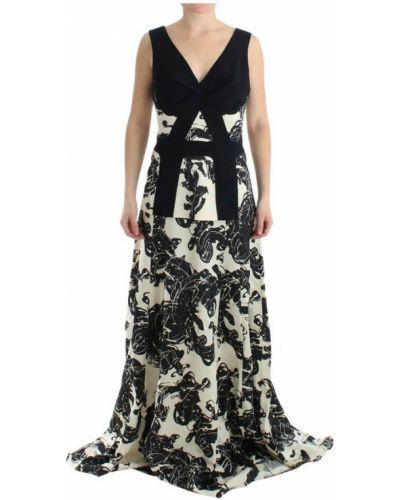 Czarna sukienka długa Cedric Charlier