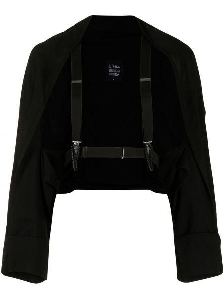 Приталенная ватная черная длинная куртка Yohji Yamamoto