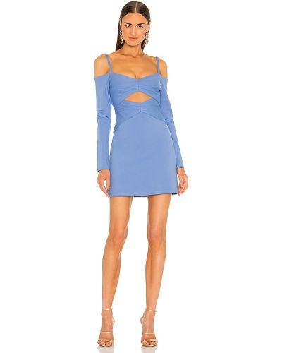 Синее платье на молнии Alexis