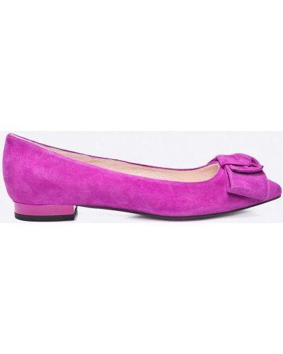 Фиолетовые балетки кожаные Gino Rossi