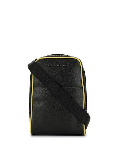 Plecak skórzany czarny Emporio Armani
