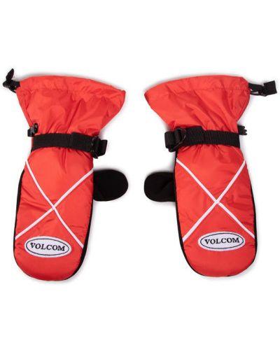 Czerwone rękawiczki narciarskie Volcom