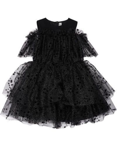 Муслиновое платье - черное Simonetta
