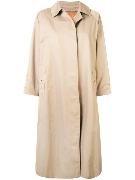 Однобортное шерстяное пальто с воротником на пуговицах Burberry Pre-owned