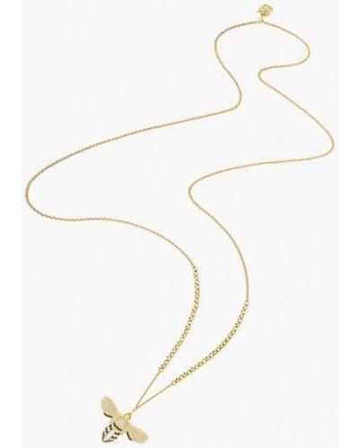 Золотая подвеска золотого цвета Swarovski