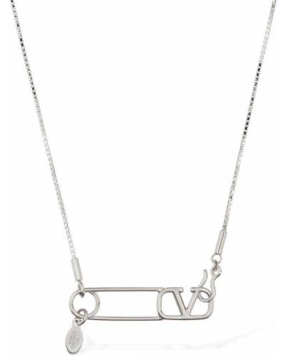Серебряная серебряная брошь на крючках Valentino Garavani