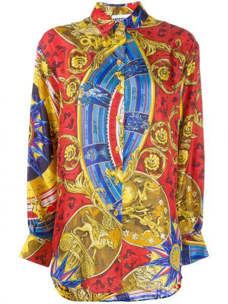 Рубашка с длинным рукавом с принтом классическая Moschino