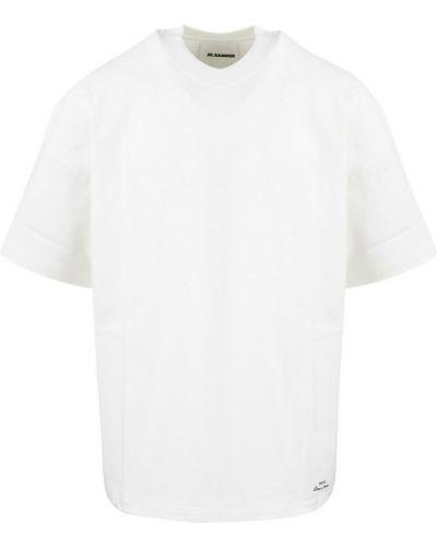 Biała t-shirt Jil Sander