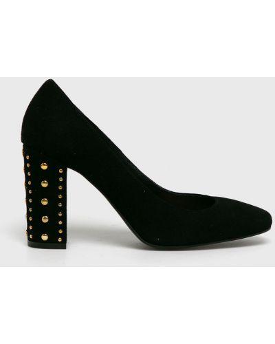Туфли на каблуке замшевые кожаные Chebello