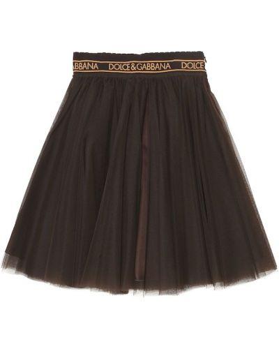 Brązowy spódnica z tiulu Dolce & Gabbana Kids