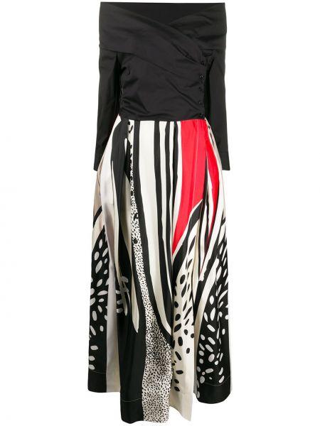 Платье с V-образным вырезом с рукавами Sara Roka