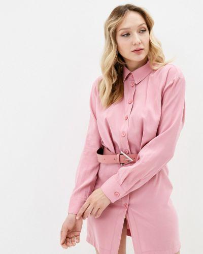 Розовое платье-рубашка Imperial