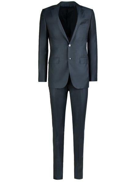 Шерстяной серый костюмный костюм классический на пуговицах Ermenegildo Zegna