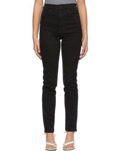 Черные зауженные джинсы-скинни стрейч Slvrlake