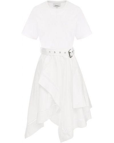Платье с поясом с цветочным принтом на шнуровке 3.1 Phillip Lim