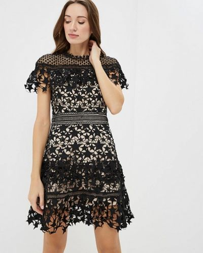 Вечернее платье осеннее черное Paccio