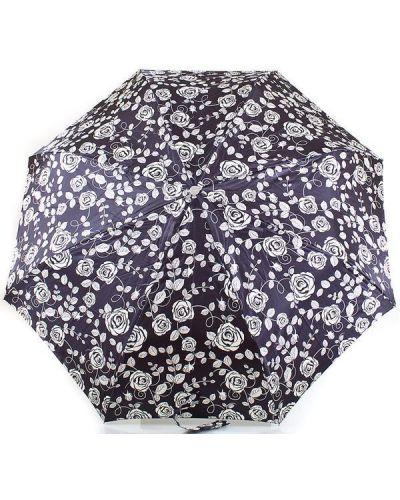 Прямой сатиновый серебряный автоматический зонт Doppler