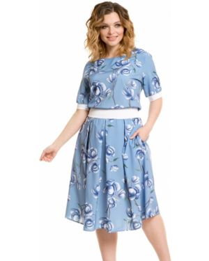 Летнее платье с цветочным принтом через плечо Novita