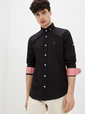 Черная рубашка с длинными рукавами Jimmy Sanders
