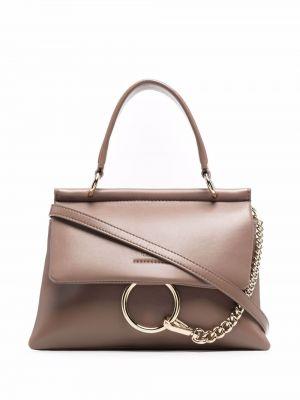 Коричневая кожаная сумка Chloé