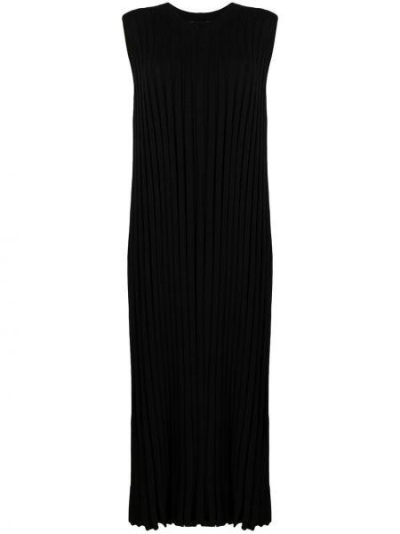 Черное платье миди без рукавов из вискозы Joseph