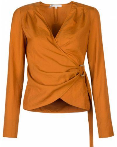 Pomarańczowa bluzka z paskiem Patrizia Pepe
