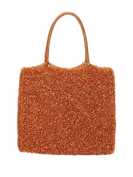 Оранжевая сумка-тоут круглая Anteprima