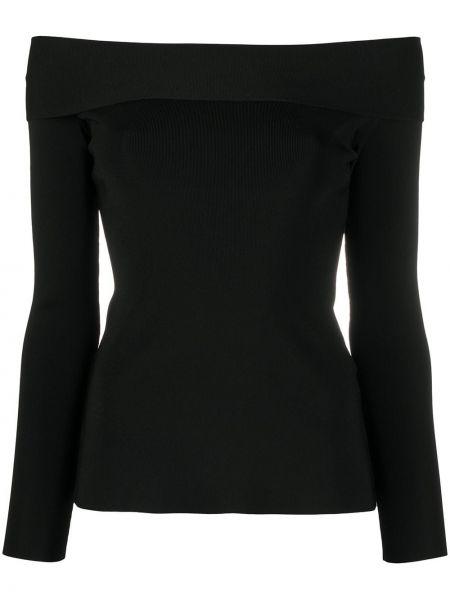 С рукавами открытый черный топ Victoria Beckham