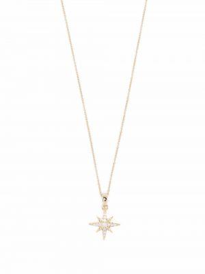 Żółty złoty naszyjnik łańcuch perły Mizuki