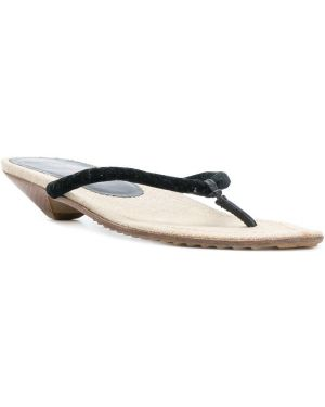 Черные сандалии на каблуке Miu Miu Pre-owned