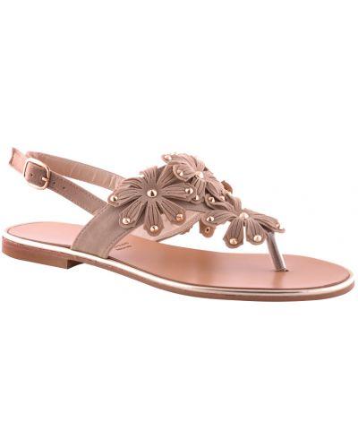 Кожаные сандалии - бежевые Albano