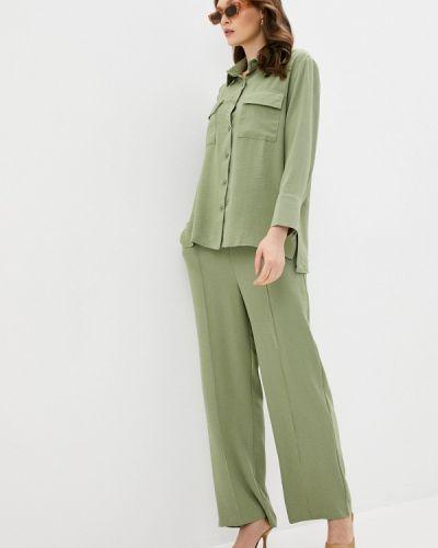 Костюмный зеленый брючный костюм Imocean