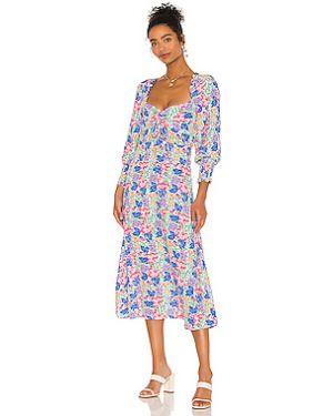 Платье миди на молнии шелковое Faithfull The Brand