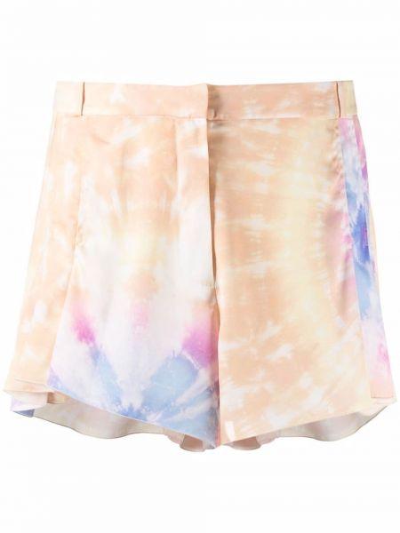 Плиссированные шорты с потайной застежкой Paco Rabanne