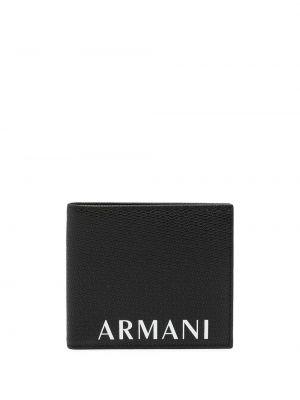 Portfel skórzany - biały Armani Exchange