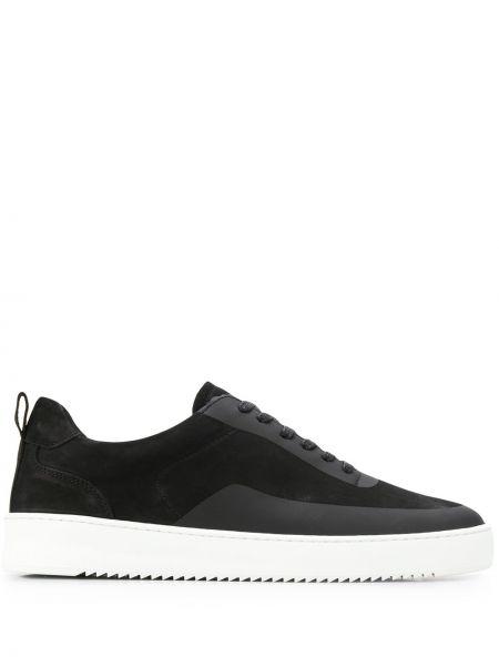 Skórzane sneakersy zamszowe czarne Filling Pieces