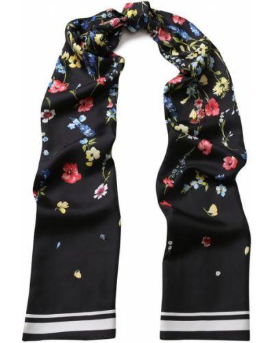 Шарф с цветочным принтом шелковый Escada