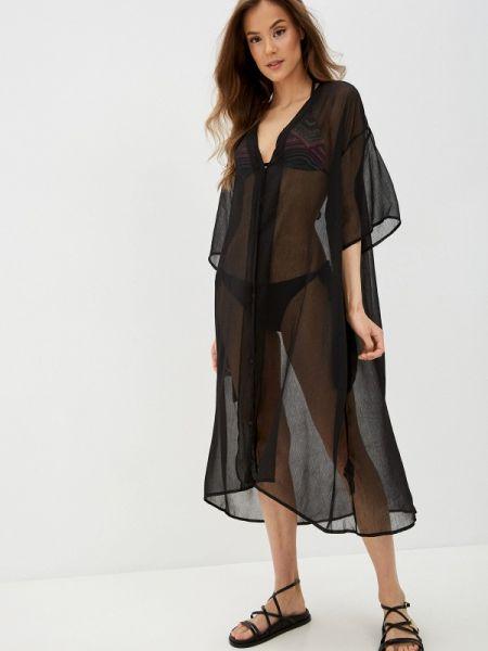 Пляжное платье черное весеннее Pieces