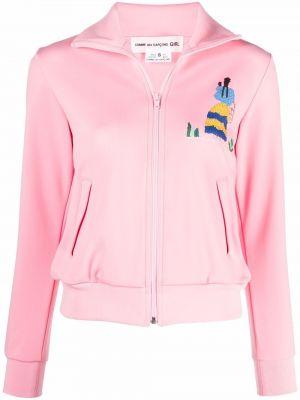 Розовая куртка из полиэстера Comme Des Garçons Girl