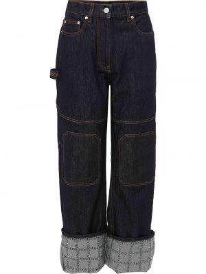 Синие джинсы с завышенной талией Jw Anderson